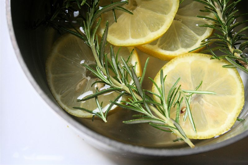 Home Scents Lemon Vanilla Rosemary Boil Simmer Pot DIY Kitchen Home Decor Fresh Summer